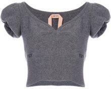 Nº21 - Top con maniche a palloncino - women - Virgin Wool/Viscose - 42 - GREY