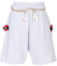 Nil & Mon - Pantaloni corti con catena - women - Cotone/Polyester - M, L - GREY