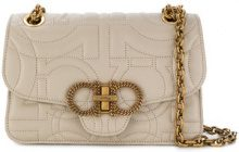 Salvatore Ferragamo - Gancini quilted shoulder bag - women - Calf Leather - One Size - NUDE & NEUTRALS