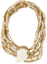 Camila Klein - Imã leather trim neckalce - women - Metal (Other) - OS - METALLIC