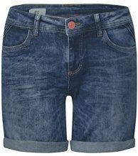 Street One 371344 Kate, Pantaloncini Donna, Blu (Dark Blue Vintage Wash 11385), W27