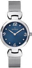 Grovana 4485.1135 Orologio al quarzo, da donna, con quadrante analogico blu e cinturino in acciaio inox colore argento