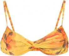 Lygia & Nanny - wrap style bikini top - women - Polyamide/Spandex/Elastane - 40, 42, 44, 46, 48 - Giallo & arancio