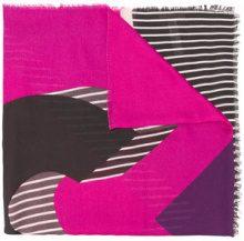 - Liu Jo - stripe detail scarf - women - fibra sintetica - Taglia Unica - di colore rosa