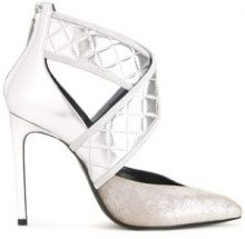 Lanvin - Pumps con intreccio - women - Calf Leather/Goat Skin/Lamb Skin - 37, 39, 40 - METALLIC