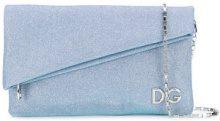 Dolce & Gabbana - foldover logo clutch bag - women - Cotone/Polyurethane/Polystyrene - One Size - Blu