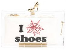 Charlotte Olympia - Pandora Loves Shoes clutch - women - Glass Fiber - OS - WHITE