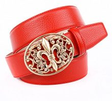 Anthoni Crown A43LT60, Cintura Donna, Rosso (Rot 060), 95 cm