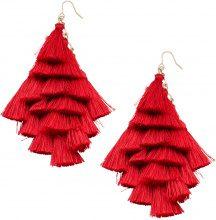 Orecchini con nappe in filo (Rosso) - bpc bonprix collection
