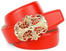Anthoni Crown A4WT60, Cintura Donna, Rosso (Rot 060), 110 cm