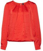 Marc Cain Essentials Marccaindamenblusen+E5115W87, Camicia Donna, Rosso (Scarlet), 40