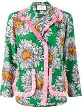 Gucci - daisy print pyjama shirt - women - Silk - 42, 46 - Verde
