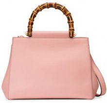 Gucci - Borsa a mano in pelle 'Gucci Nymphaea' - women - Bamboo/Leather/metal/Microfibre - OS - PINK & PURPLE