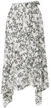 Christian Wijnants - Gonna con stampa a fiori - women - Silk - 40 - Bianco