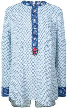 Figue - Milagro printed tux shirt - women - Silk - XS, L, XL - Bianco