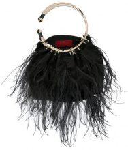 Valentino - Borsa Bepop - women - Silk/Ostrich Feather/Sequin - OS - Nero