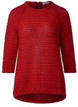 Cecil 300321, Felpa Donna, Rosso (Flame Red 20984), Small
