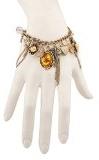 Lux accessori floreale farfalla foglia in metallo frangia braccialetto