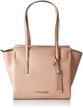 Calvin Klein Jeans Frame Medium Shopper - Borse Tote Donna, Beige (Nude), 14x30x44 cm (B x H T)