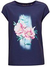 ESPRIT Collection 038eo1k011, T-Shirt Donna, Blu (Navy 400), XX-Large