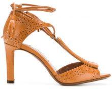 - L'Autre Chose - Sandali con dettaglio brogue - women - Goat Skin/Leather - 39, 36, 35, 38, 38.5 - Marrone