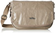 Kipling Earthbeat S - Borse a tracolla Donna, Braun (Lacquer Sand), 26x17x0.1 cm (B x H T)