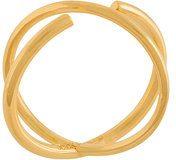 Maria Black - Anello 'Twin' - women - Gold Plated Silver - 52.5, 54.4 - Giallo & arancio