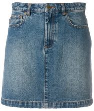 A.P.C. - denim skirt - women - Cotone - 38 - Blu