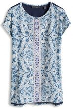 ESPRIT Collection Fließend weiche Qualität, T-Shirt Donna, Multicolore (Ink 415), L (Taglia Produttore: XL)