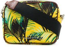 - Sonia Rykiel - palm print camera bag - women - Polyester/Calf Leather - OS - Giallo & arancio