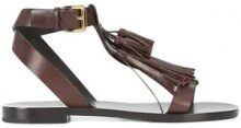 Michael Kors Collection - fringed sandals - women - Leather - 36, 36.5, 37.5, 38, 38.5, 39, 39.5 - Marrone
