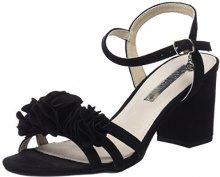 XTI 30714, Sandali con Cinturino Alla Caviglia Donna, Nero (Black), 41 EU