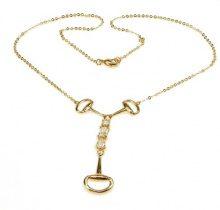 Orphelia PK-016 - Catenina con pendente da donna con zirconia cubica, metallo placcato oro, 450 mm