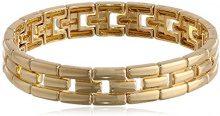 Anne Klein Classics Gold-Bracciale elasticizzato, colore: turchese