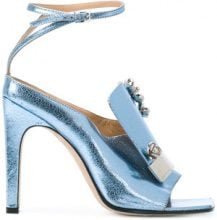 Sergio Rossi - Sandali decorati - women - Calf Suede/Lamb Skin/Calf Leather - 36, 37, 38, 38.5, 39, 40, 40.5 - BLUE