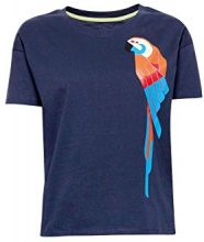 edc by Esprit 058cc1k058, T-Shirt Donna, Multicolore (Navy 400), X-Small