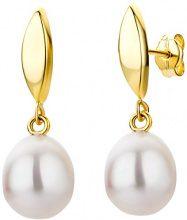 Miore - Orecchini in oro giallo 9 carati e perle