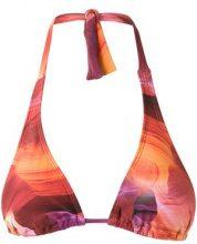 Lygia & Nanny - triangle bikini top - women - Polyamide/Spandex/Elastane - 38, 40, 42 - YELLOW & ORANGE