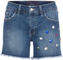 Shorts di jeans con pietre (Blu) - BODYFLIRT