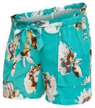 MAMA.LICIOUS Flower Printed Shorts Women Green
