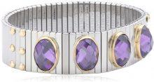 Nomination Bracciale Extra Large, colore: viola, Rosa, con Zirconia cubica sfaccettata 042541/001