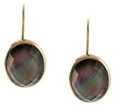 Wouters & Hendrix - 'My Favourite' drop earrings - women - Sterling Silver/18kt Gold/Crystal/Madre di Pearl - OS - METALLIC