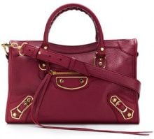 Balenciaga - metallic edge small city tote - women - Lamb Skin - OS - Rosso