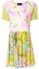 Boutique Moschino - Vestito con stampa mix - women - Silk/Viscose - 40, 42 - YELLOW & ORANGE