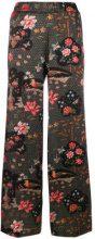 Shirtaporter - Pantaloni stampati - women - Silk/Spandex/Elastane - 40, 44, 46 - Nero