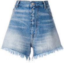 Unravel Project - Shorts denim sfrangiati - women - Cotone/Polyester - 28 - Blu