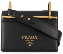 Prada - Borsa a tracolla con logo - women - Leather - OS - Nero
