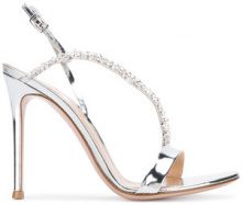 Gianvito Rossi - crystal embellished sandals - women - Leather - 37.5, 38.5, 40, 41 - Metallizzato