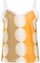 Marco De Vincenzo - logo trim camisole - women - Silk/Polyester - 40, 42 - YELLOW & ORANGE