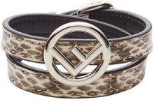 Fendi - F Is Fendi bracelet - women - Lamb Skin/Brass/Cobra - S, M - Marrone